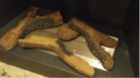 Καυστηράκι με ξύλα κεραμικά